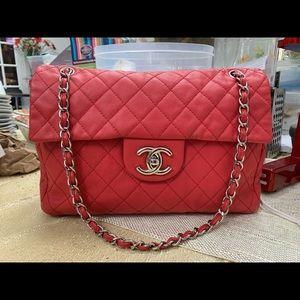 04c3cd351df5 Chanel Washed Caviar Soft Maxi XL SHW Flap Bag